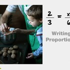 "Pre-Algebra: (RP.4) ""Writing Proportions"" Prezi/iPad Lesson"