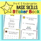 Pre-K & Kindergarten Basic Skills Sticker Book