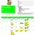 Pre K November Calendar/Newsletter