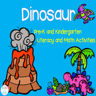 Pre-K and K Dinosaurs Packet