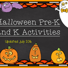 Pre-K and K Halloween Unit