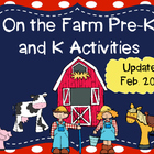 Pre-K and K On the Farm Activities