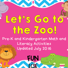 Pre-K and K Zoo Unit