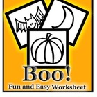 Pre-K and Kindergarten Halloween Worksheet