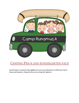 Pre-K  and Kindergarten Camping Pack