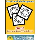 Pre-K and Kindergarten Sun Worksheet