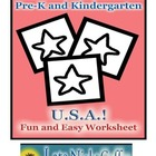 Pre-K and Kindergarten USA Worksheet