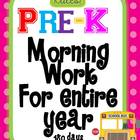 Pre Kindergarten Morning Work for Entire year 180 days