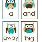 Pre-Primer Dolch Words Flashcards - Owls