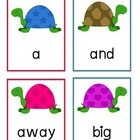 Pre-Primer Dolch Words Flashcards - Turtles
