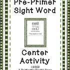 Pre-Primer Sight Word Center Activity and Book
