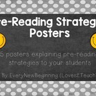 Pre-Reading Strategies Posters