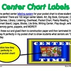 PreK/K Center Chart Labeling System