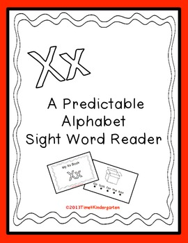 Letter X Book, predictable alphabet reaer