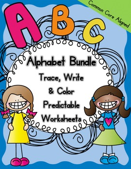 Predictable Alphabet Worksheets Bundle
