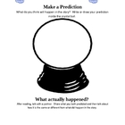 Prediction Power - Graphic Organizer for Primary Students