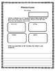 Prediction summary graphic organizer