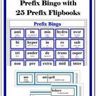Prefix Bingo with 25 Prefix Flipbooks