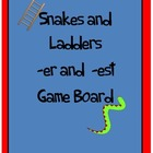 Prefix Er Est Snakes and Ladders Game