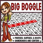 Prefix, Root and Suffix Review Activity: Big Boggle