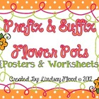 Prefix &amp; Suffix Flower Pot {Posters &amp; Worksheets - CCSS}