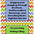 Prefix, Suffix, Root Word, and Multi-Syllable Word {Poster