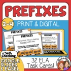 Prefix Task Cards: 32  Sentence Cards for CCS L.2.4 and L.3.4