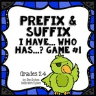 Prefix and Suffix Game #1 Common prefixes &amp; suffixes