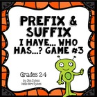Prefix and Suffix Game #2 Common prefixes & suffixes