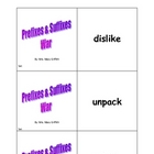 Prefixes & Suffixes Card Game