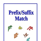 Prefixes, Suffixes and Root Words Match Game