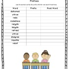 Prefixes Worksheet - Root Words and Prefixes