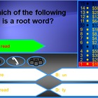 Prefixes and Suffixes Millionaire Game