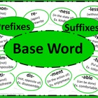 Prefixes and Suffixes Poster Set - GREEN