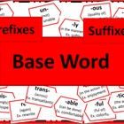 Prefixes and Suffixes Poster Set - RED