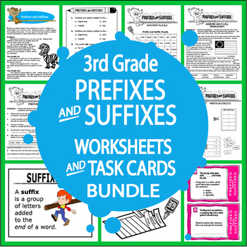 Prefixes and Suffixes-Third Grade Common Core Lesson