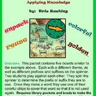 Prefixes and Suffixes/Applying Knowledge