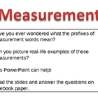 Prefixes of Measurement Words