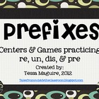 Prefixes- re, dis, pre, un