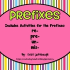 Prefixes - re, pre, un, mis