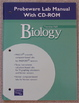 Prentice Hall Biology Probeware Lab Manual with CD-ROM