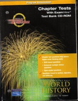 Prentice Hall World History Chapter Tests w/ CD Rom