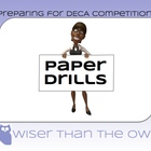 Preparing for DECA Competition: Paper Drills