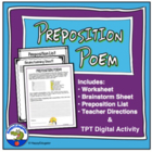 Preposition Poem Worksheet