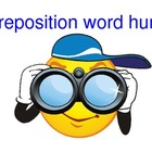 Preposition Word Hunt