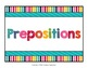 Preposition Word Wall