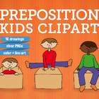 Preposition kid clip art
