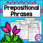 Prepositional Phrases - Set of 6 Grammar Practice Pages