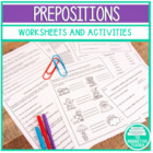 Prepositions: Word List and 4 Worksheets