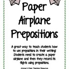 Prepositions with Paper Airplanes Hands-On Lab
